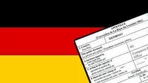 Апостиль на немецкие документы