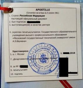 Апостиль и перевод документов с французского языка